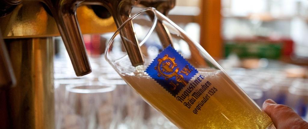 Getränkekarte Gaststätte Freiland - Augustiner Bier