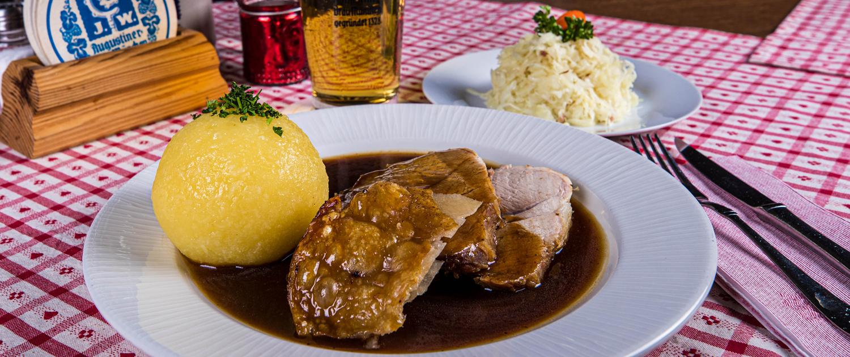 Speisekarte, Schweinebraten, Gaststätte Freiland München