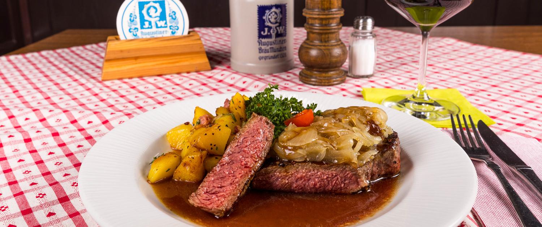 Speisekarte Gaststätte Freiland - Zwiebelrostbraten